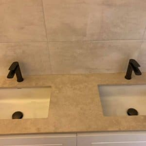 A photo of his & hers sinks