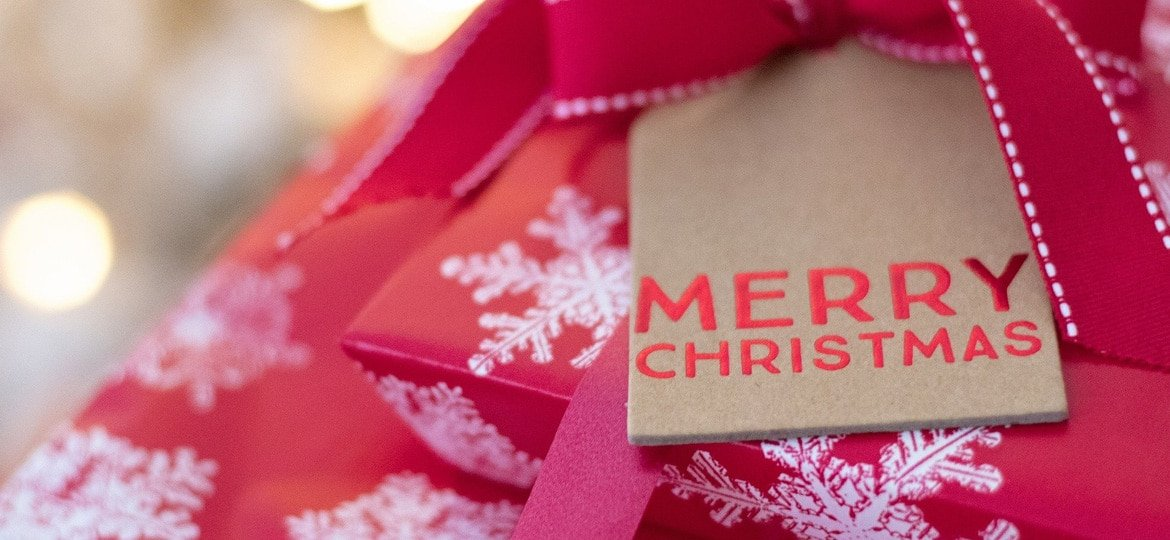 A photo of a Christmas present. Christmas plumbing tips from Element Plumbing & Gas